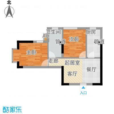 金丰花园55.00㎡金丰花园1室户型1室