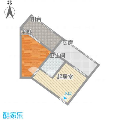 巧克力公寓55.50㎡巧克力公寓户型图户型-042室1厅1卫户型2室1厅1卫
