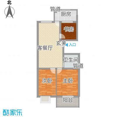 龙昌彩虹风景98.00㎡龙昌彩虹风景户型10室