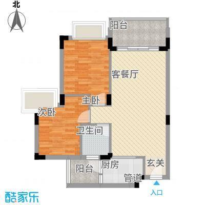 蓝山锦湾81.00㎡蓝山锦湾一期2室户型2室