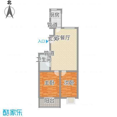 龙昌彩虹风景93.75㎡龙昌彩虹风景户型10室