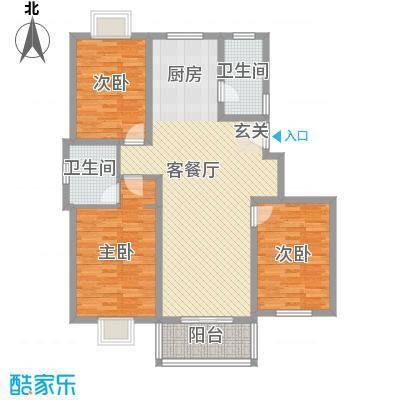 鸿福家园131.04㎡鸿福家园户型图3室2厅2卫户型10室