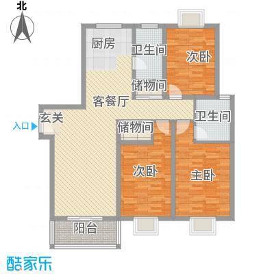 鸿福家园140.17㎡鸿福家园户型图3室2厅2卫户型10室