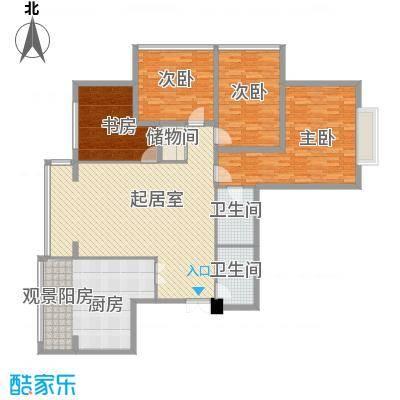 恒祥家园户型3室2厅2卫1厨