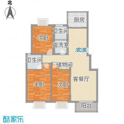 南浦花园126.71㎡南浦花园户型图茉莉3室2厅2卫户型3室2厅2卫