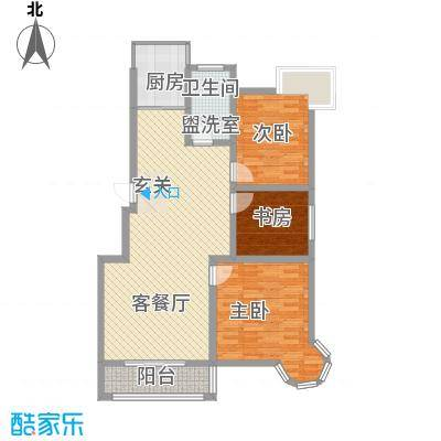 南浦花园120.53㎡南浦花园户型图百合3室2厅1卫户型3室2厅1卫