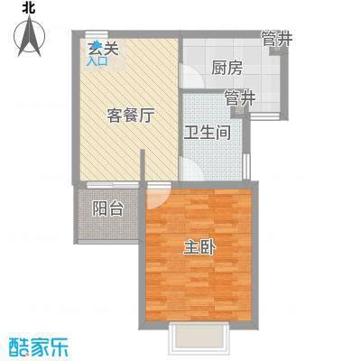 润扬广场68.00㎡润扬广场1室户型1室