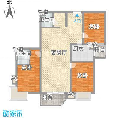广电小区145.00㎡广电小区3室户型3室