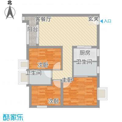 鑫汇苑111.00㎡鑫汇苑3室户型3室