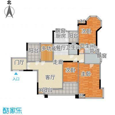 世纪城国际公馆三期176.00㎡世纪城国际公馆三期户型图2号楼B2户型4室2厅3卫户型4室2厅3卫