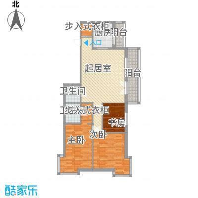 星河国际时尚府邸户型2室2厅2卫1厨