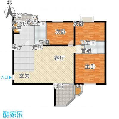 世纪城国际公馆三期158.00㎡世纪城国际公馆仁里4室户型4室