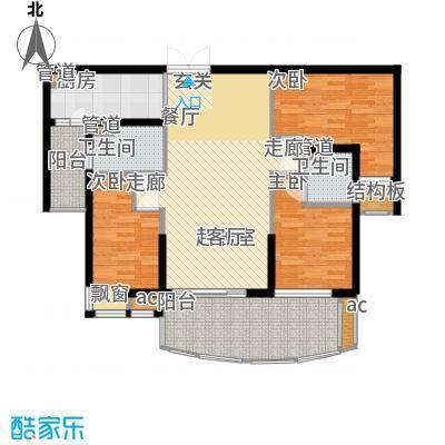 星城国际花园四期95.72㎡星城国际花园四期户型图央景台标准层Q5户型3室2厅1卫1厨户型3室2厅1卫1厨