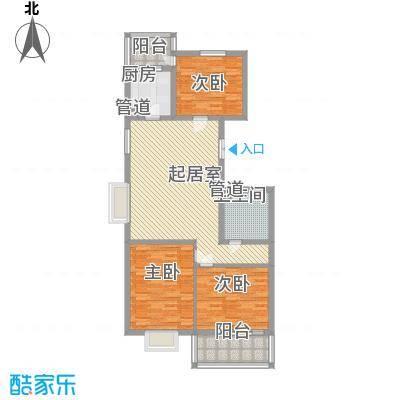 迎泽苑133.00㎡迎泽苑4室户型4室