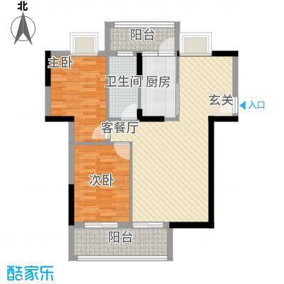 丰泽园82.32㎡丰泽园户型图标准层A1户型2室2厅1卫1厨户型2室2厅1卫1厨