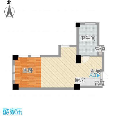 想想大厦68.00㎡想想大厦户型图L户型1室1厅1卫1厨户型1室1厅1卫1厨