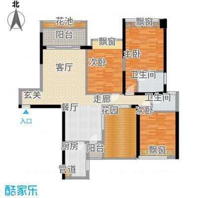 万江住宅225.00㎡万江住宅3室户型3室