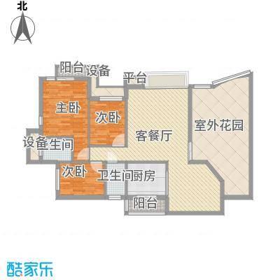 康乐新村140.00㎡康乐新村3室户型3室