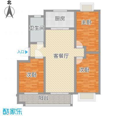 康乐新村105.00㎡康乐新村3室户型3室