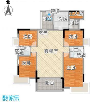 滨江豪园151.00㎡滨江豪园4室户型4室