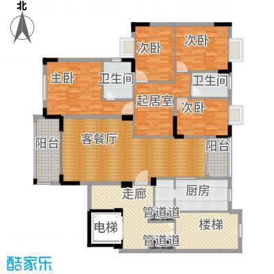 中信凯旋城168.00㎡房户型4室1厅2卫1厨