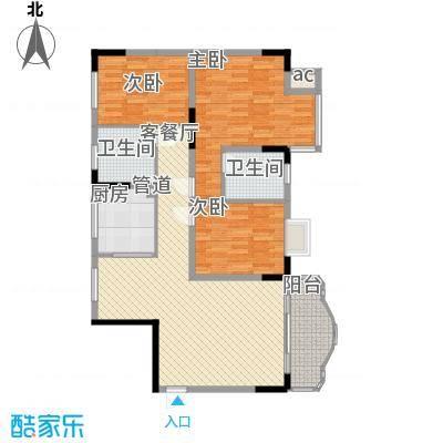 大朗中心花园三期123.20㎡大朗中心花园三期3室户型3室