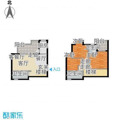 上河城124.82㎡上河城户型图2号楼A1户型3室2厅3卫1厨户型3室2厅3卫1厨