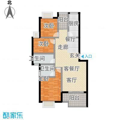 上河城114.23㎡上河城户型图2-1-A3室2厅1卫1厨户型3室2厅1卫1厨