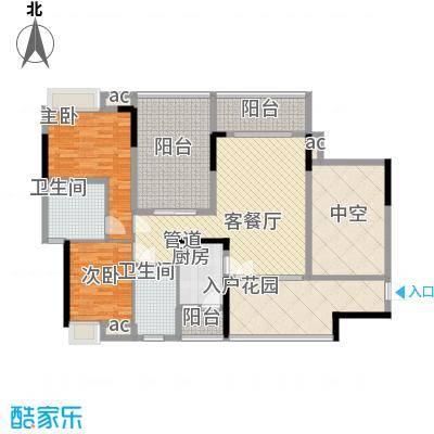 大朗中心花园三期125.00㎡大朗中心花园三期3室户型3室