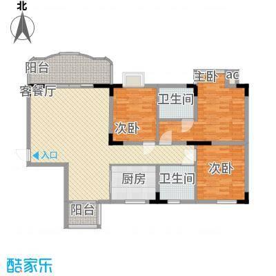 大朗中心花园三期122.00㎡大朗中心花园三期3室户型3室