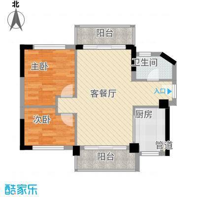 聚富花园72.00㎡聚富花园2室户型2室