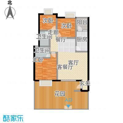 上河城110.97㎡上河城户型图1-1-A3室2厅2卫1厨户型3室2厅2卫1厨