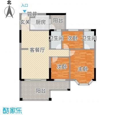 文海花园文海花园户型图豪翠轩D座3室2厅2卫1厨户型3室2厅2卫1厨