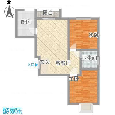 柳湖南苑60.00㎡柳湖南苑2室户型2室