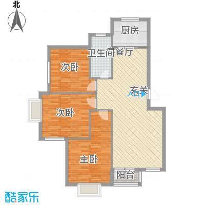 鑫馨佳园113.00㎡鑫馨佳园户型图3室2厅1卫1厨户型10室
