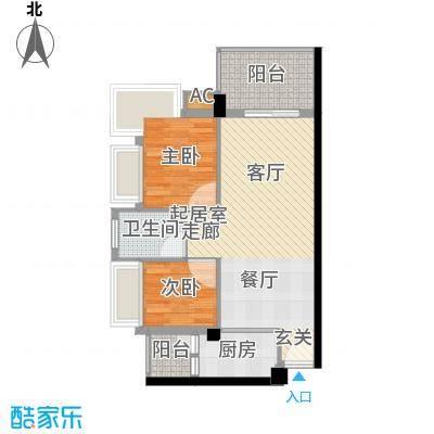 东骏豪苑41.00㎡东骏豪苑1室户型1室