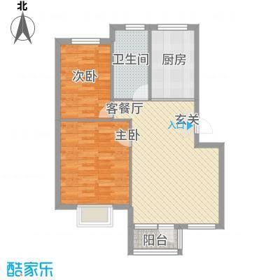 鑫馨佳园80.00㎡鑫馨佳园户型图2室2厅1卫1厨户型10室