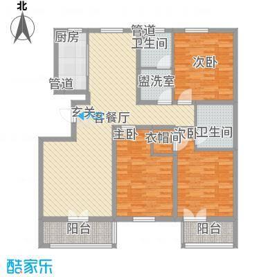 凯莱花园114.00㎡凯莱花园3室户型3室