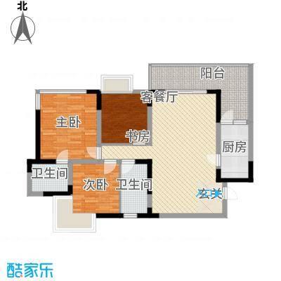 海杨城二期120.00㎡海杨城3室户型3室