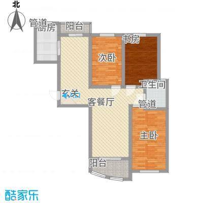 海杨城二期120.00㎡海杨城二期3室户型3室