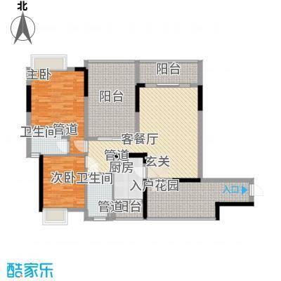 海杨城二期85.00㎡海杨城二期2室户型2室