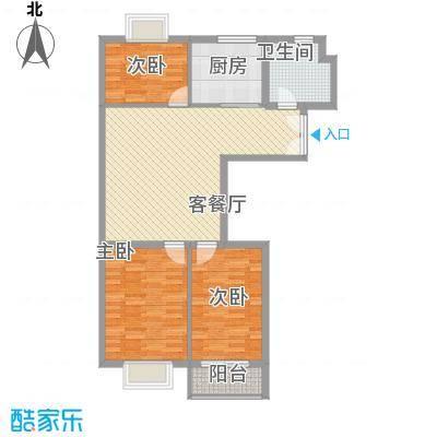 东方瑞景108.00㎡东方瑞景户型图2室1厅1卫1厨户型10室