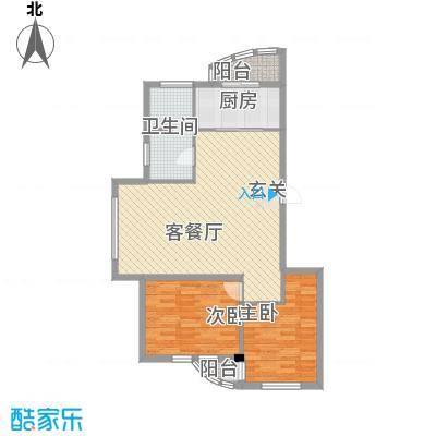 龙海滨城105.00㎡龙海滨城户型图2室2厅1卫1厨户型10室