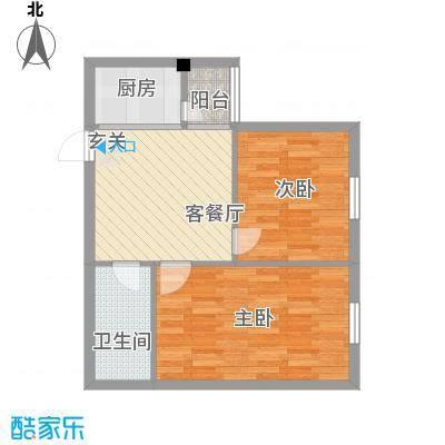 龙海滨城66.86㎡龙海滨城户型图2室1厅1卫1厨户型10室