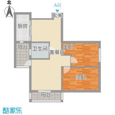 龙海滨城91.49㎡龙海滨城户型图2室2厅1卫1厨户型10室