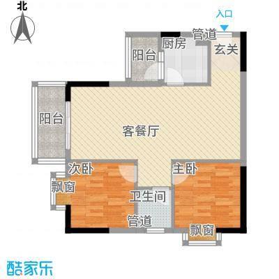 江源花园90.00㎡江源花园2室户型2室