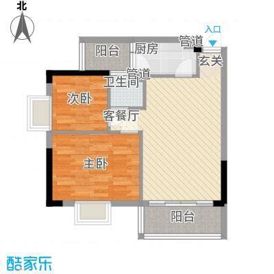 美陶花园65.00㎡美陶花园户型图12座02单位2室2厅1卫1厨户型2室2厅1卫1厨