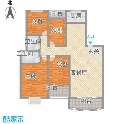 新世纪广场140.00㎡新世纪广场4室户型4室