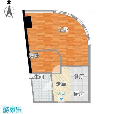 华林星座60.56㎡华林星座户型图1室1厅1卫1厨户型10室