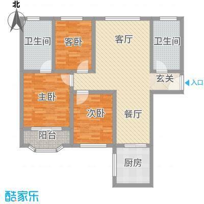 盛大广场123.34㎡盛大广场户型图F户型3室2厅1卫1厨户型3室2厅1卫1厨